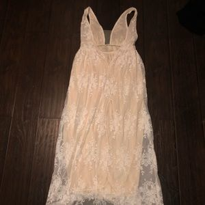 Lace prom/wedding dress with illusion bust